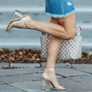 Steve Madden Clear Thick Heel